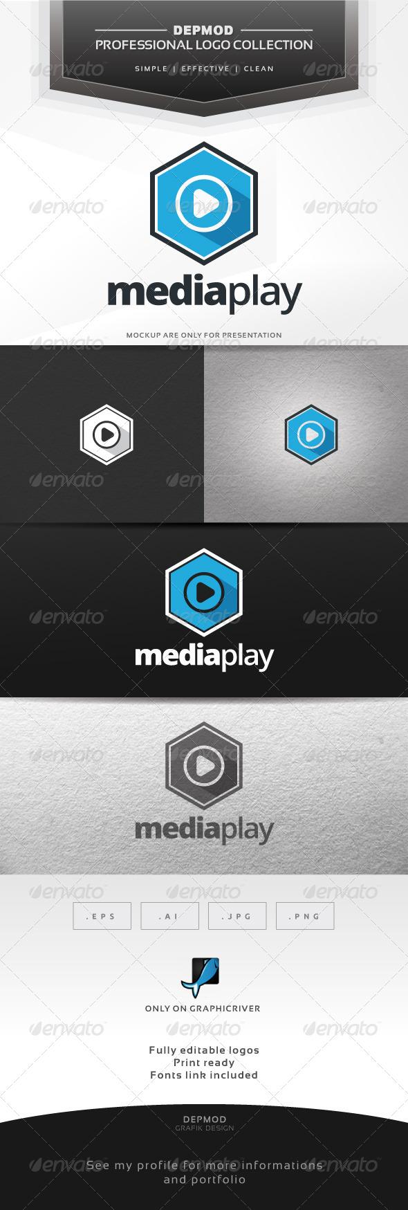 Media Play V.02 Logo - Symbols Logo Templates