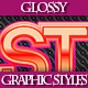 Set of Beautiful Colorful Glossy Styles for Design - GraphicRiver Item for Sale