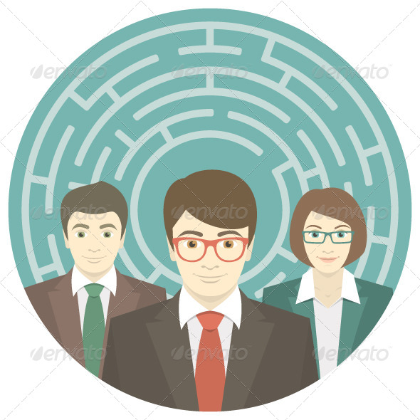 Team in Labyrinth - Concepts Business