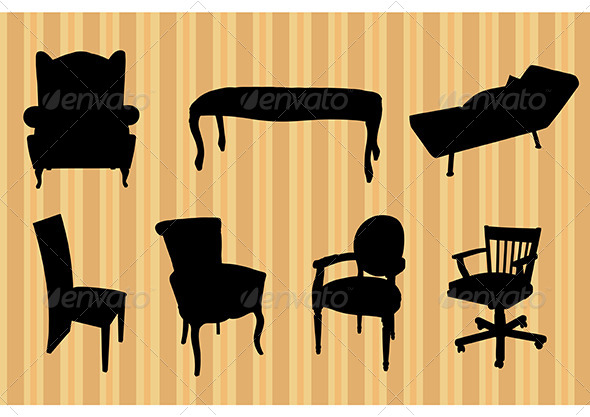 Seats Silhouettes - Man-made Objects Objects