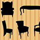 Seats Silhouettes - GraphicRiver Item for Sale