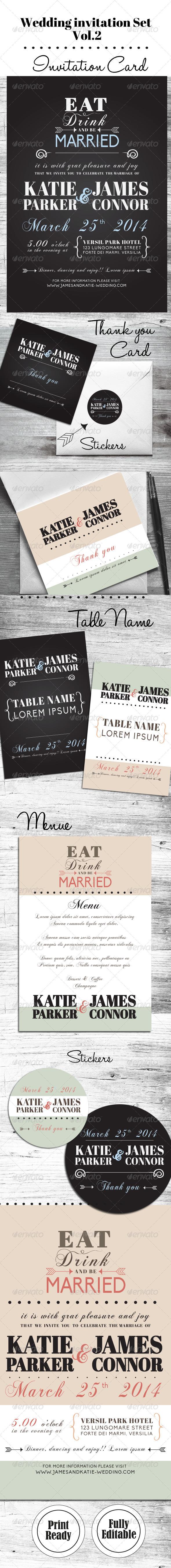 Wedding Invitation Set Vol. 02 - Weddings Cards & Invites