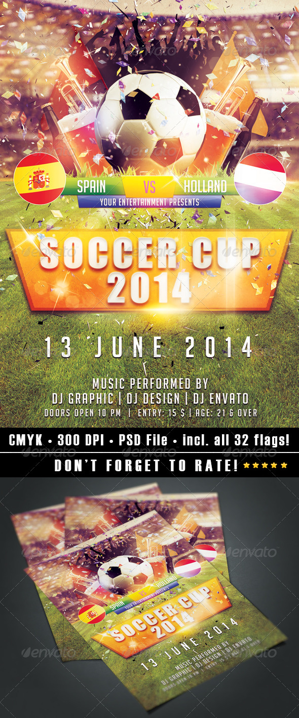 Soccer Cup 2014 - Events Flyers
