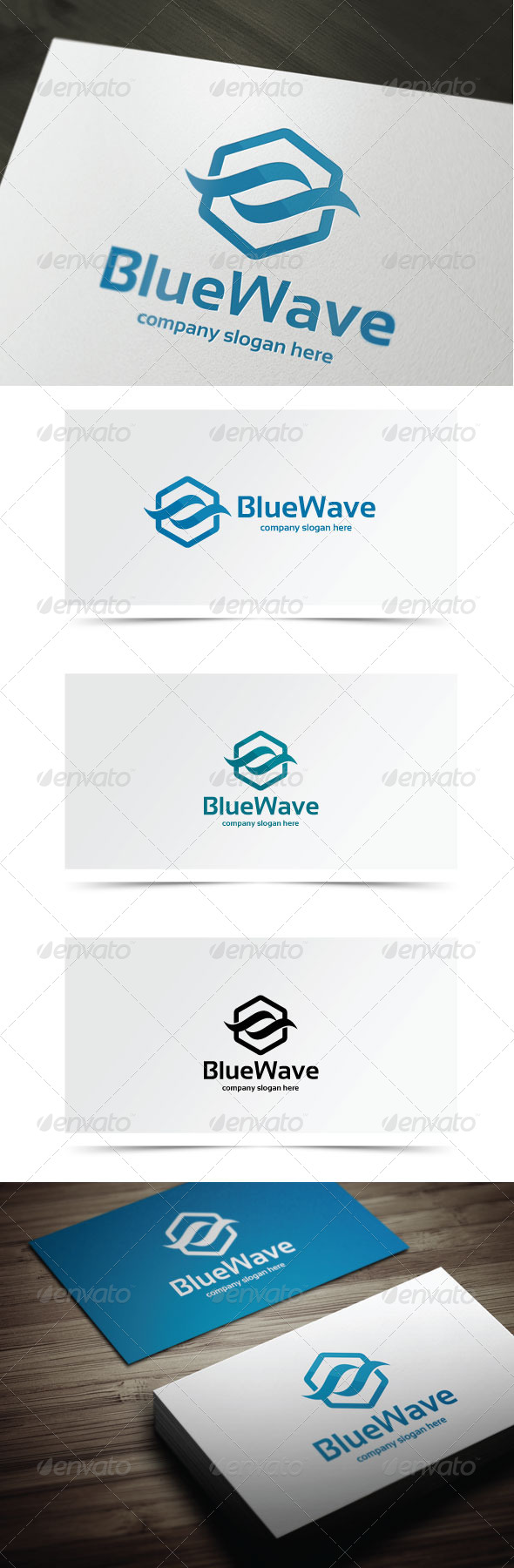 Blue Wave - Abstract Logo Templates