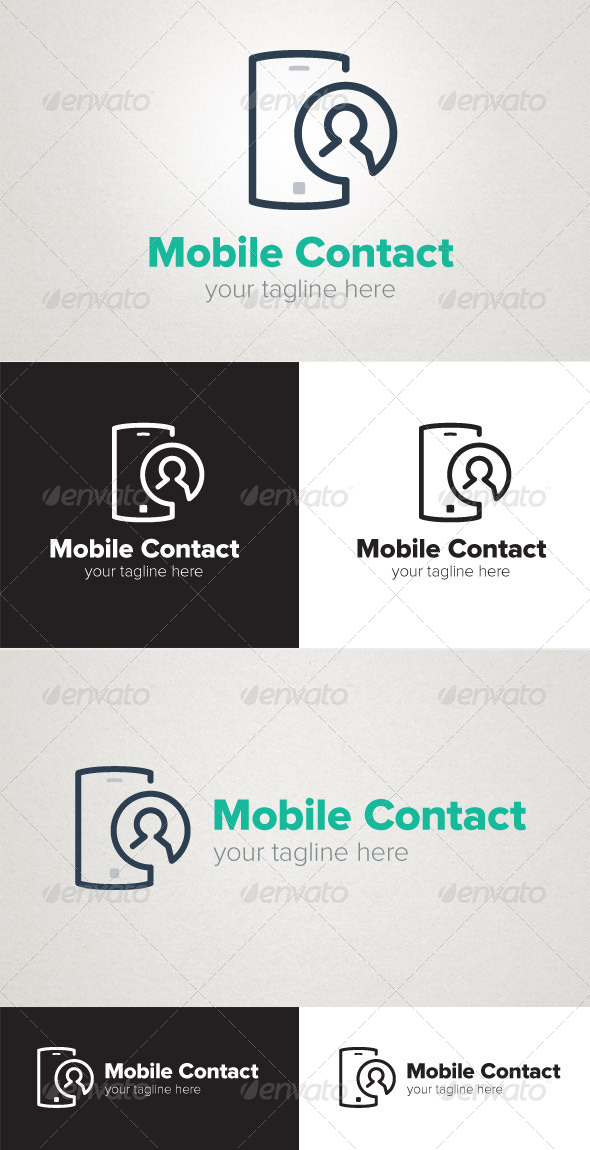 Mobile Contact - Objects Logo Templates
