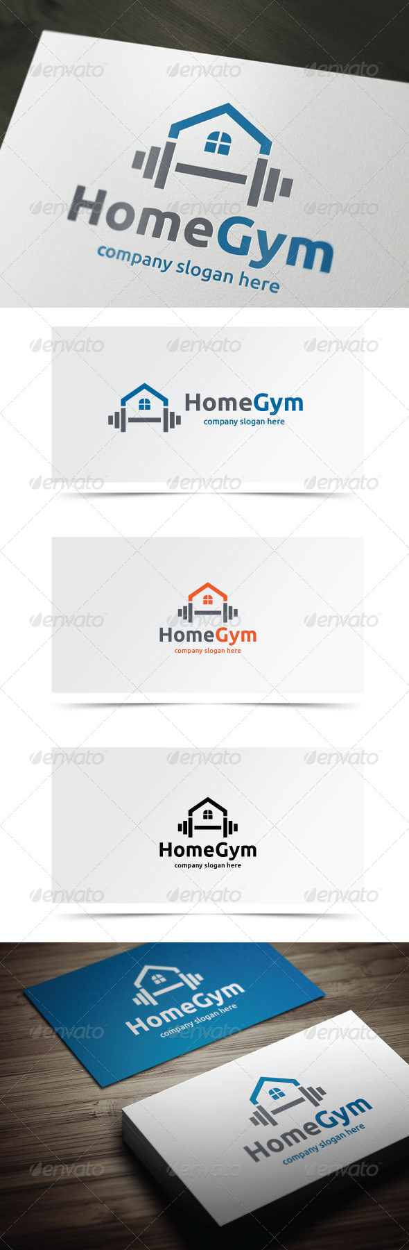Home Gym - Objects Logo Templates