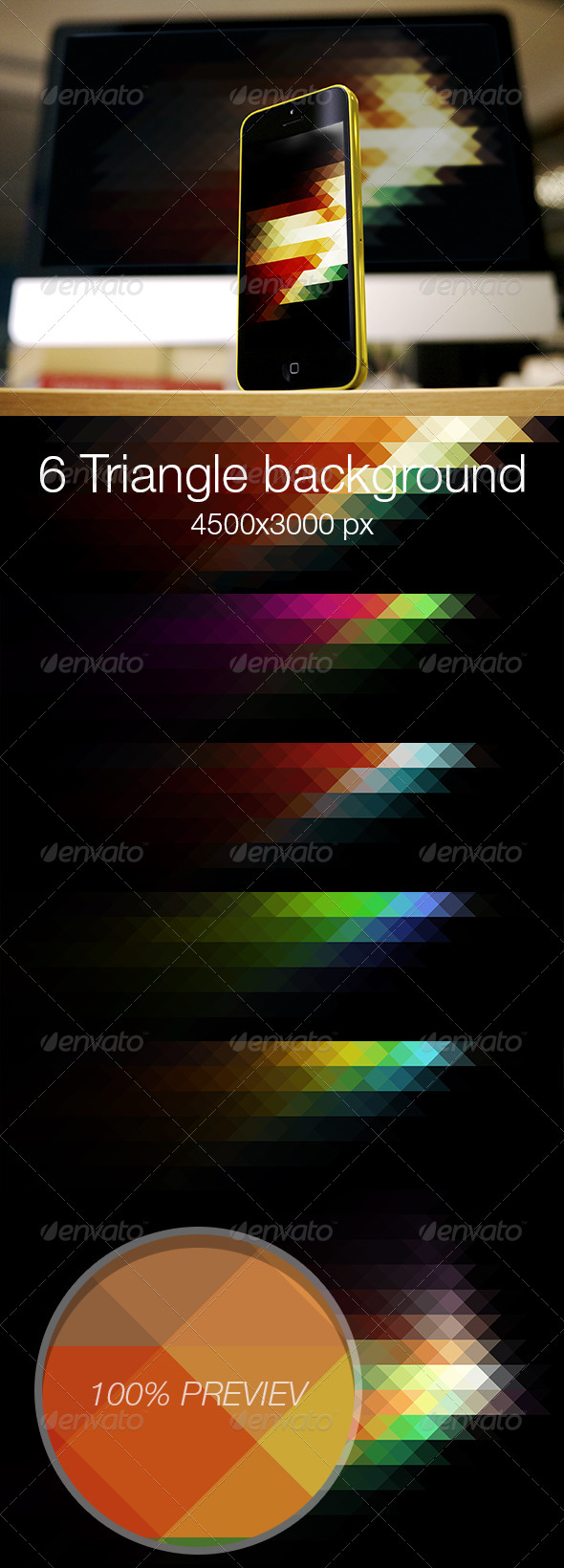 Triangle colored background vol.3 - Abstract Backgrounds