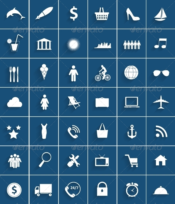 Set of Flat Icons - Web Technology