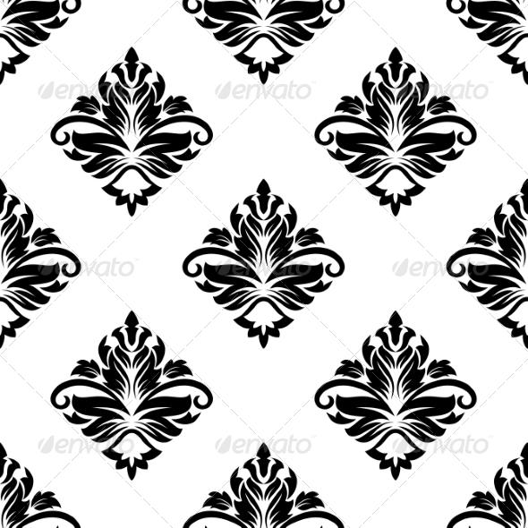 Geometric Arabesque Pattern with Floral Motif - Patterns Decorative