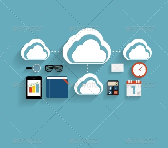 Cloud Computing Concept with Devices - Web Technology