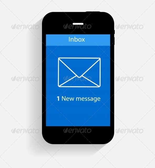 Inbox Mail Flat Concept Illustration - Web Technology