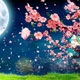 Cherry Blossom Petals Falling Down At Night (4K) - VideoHive Item for Sale