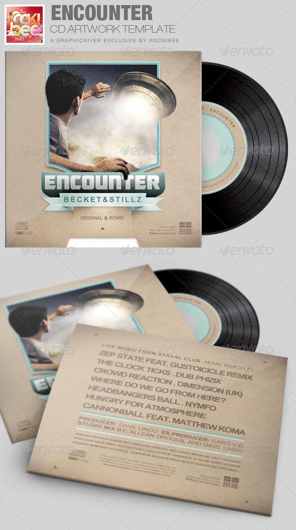 Encounter CD Artwork Template - CD & DVD Artwork Print Templates