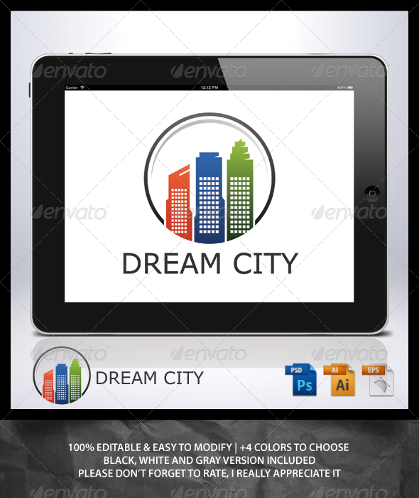 Dream City Logo - Buildings Logo Templates