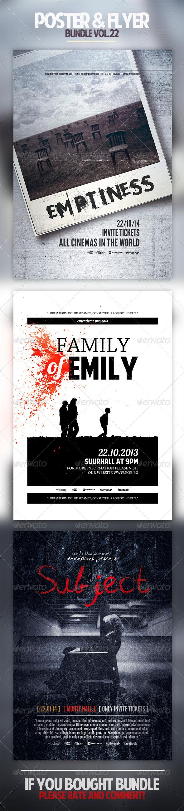 Poster & Flyer Bundle Vol.22 - Miscellaneous Events
