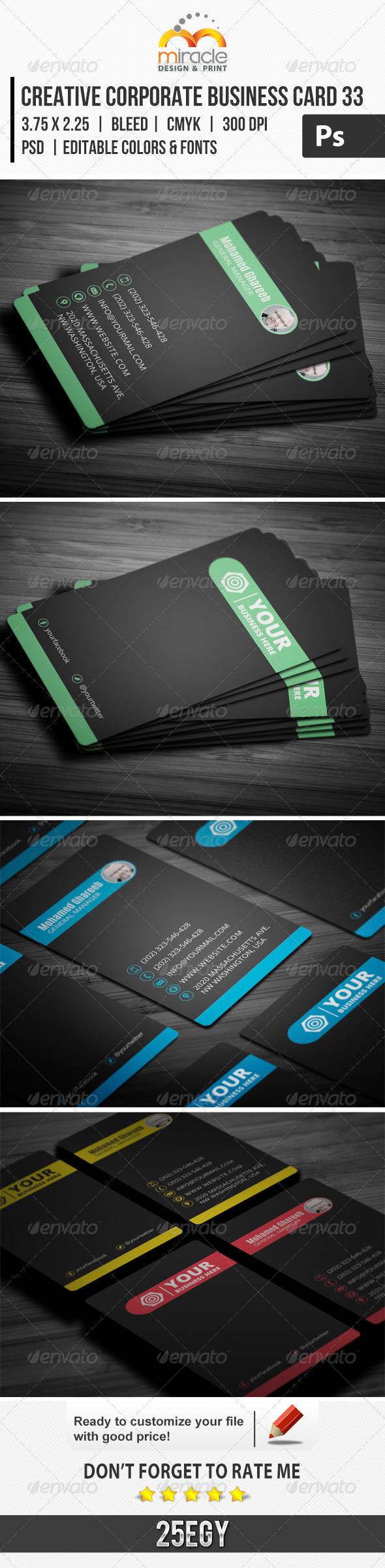 Creative Corporate Business Card 33 - Corporate Business Cards