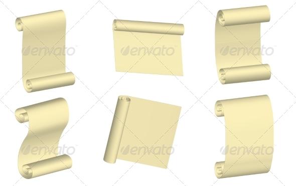 Parchment Set - Backgrounds Decorative