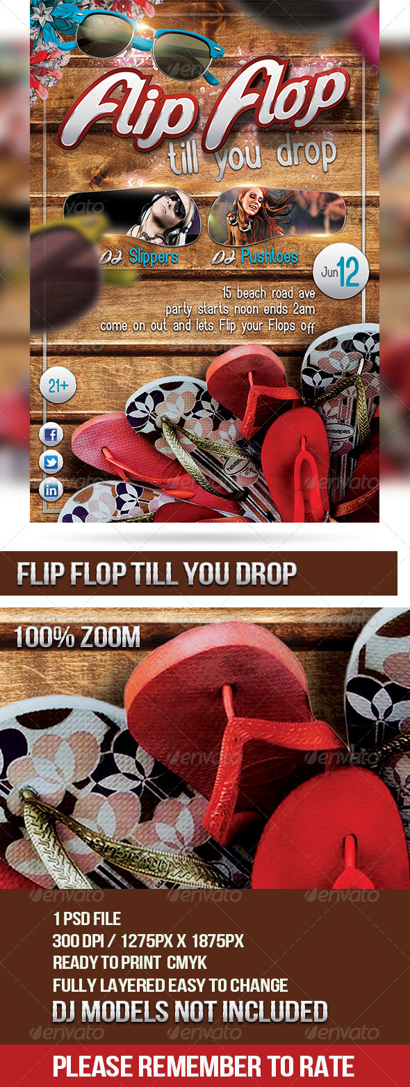 Flip Flop Till You Drop - Clubs & Parties Events