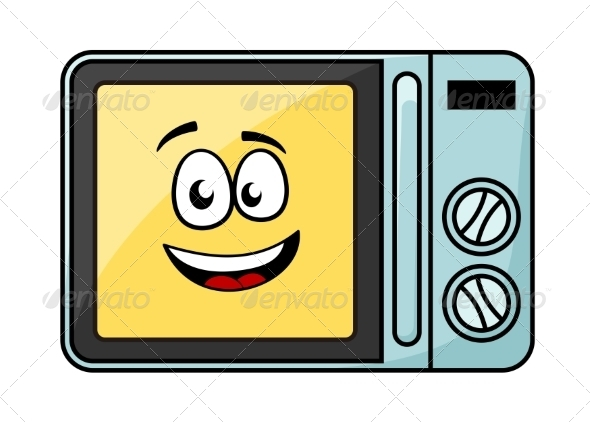 Cartoon Microwave Oven - Man-made Objects Objects