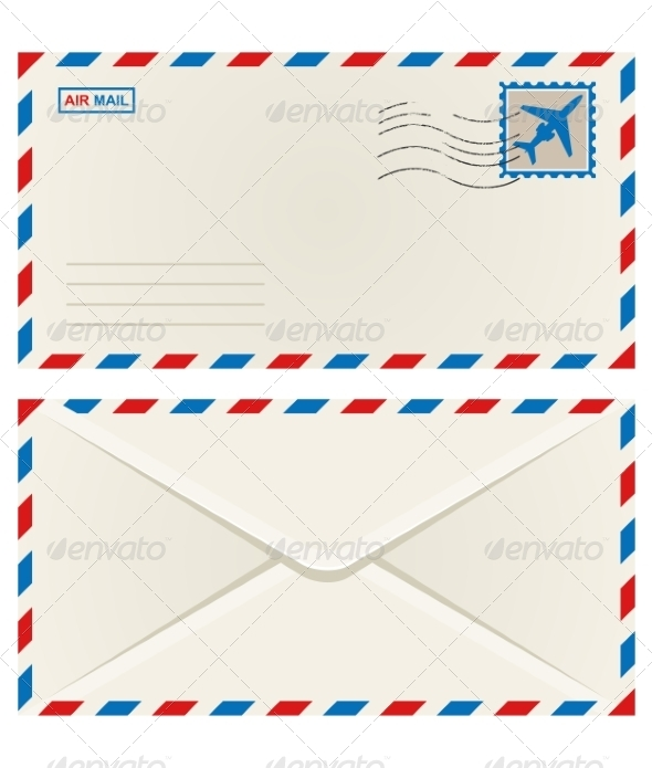 Front and Back of an Airmail Envelope - Concepts Business