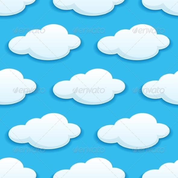 Seamless Pattern Clouds - Patterns Decorative