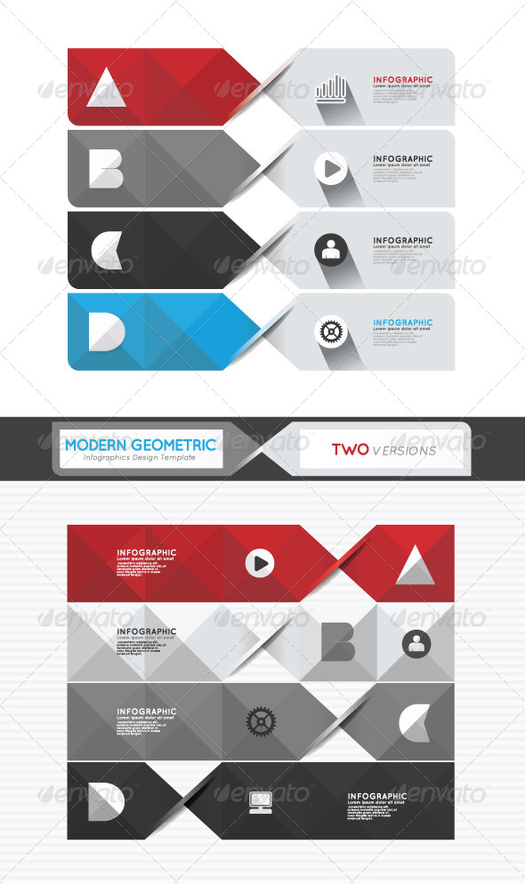 Modern Geometric Infographics Design Template - Infographics