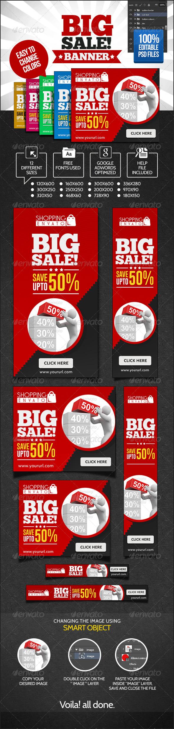 Big Sales Banner Set - Banners & Ads Web Elements