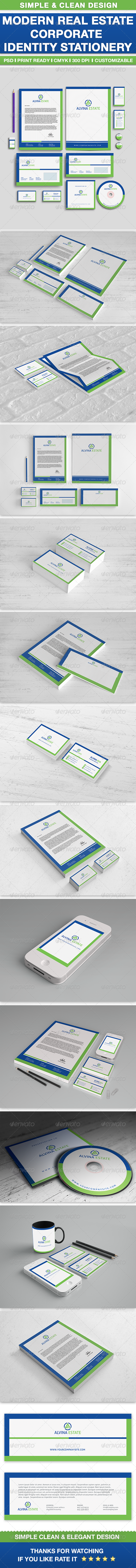 Real Estate Corporate Identity Set - Stationery Print Templates