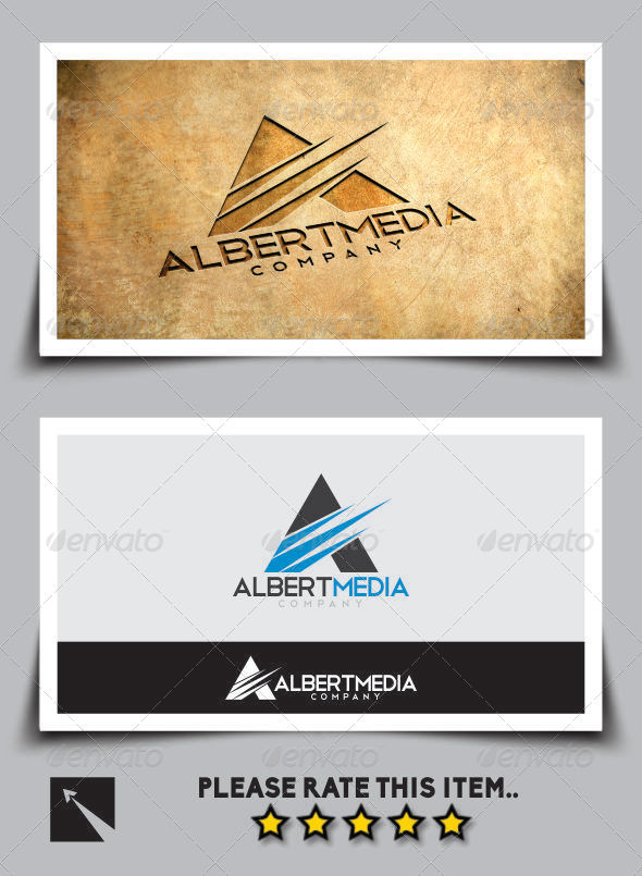 "Albert Media ""Letter A"" Logo Template - Letters Logo Templates"