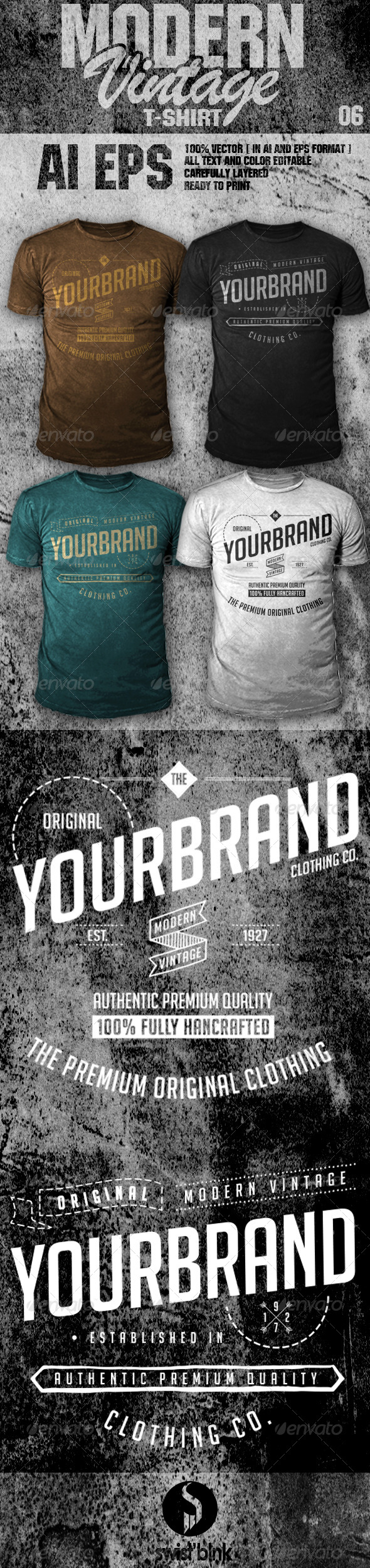 Modern Vintage T-Shirt 06 - Designs T-Shirts