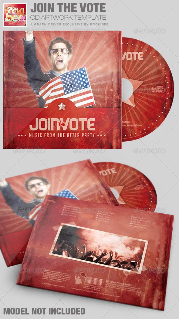 Join the Vote CD Artwork Template - CD & DVD Artwork Print Templates
