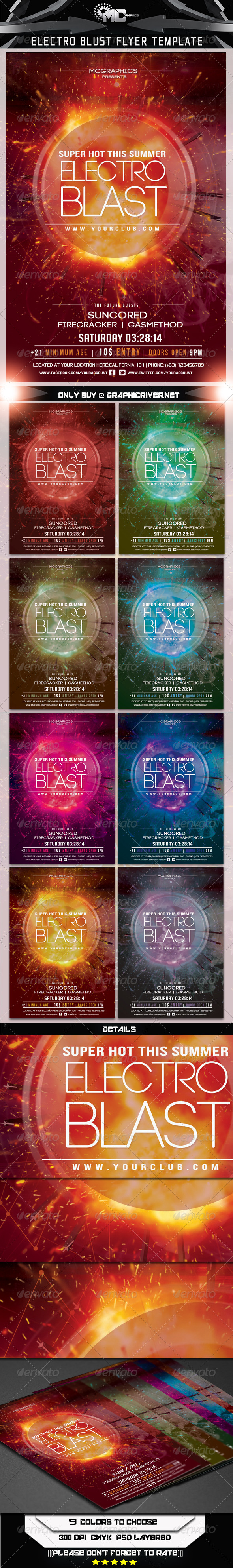 Electro Blast Flyer Template - Events Flyers