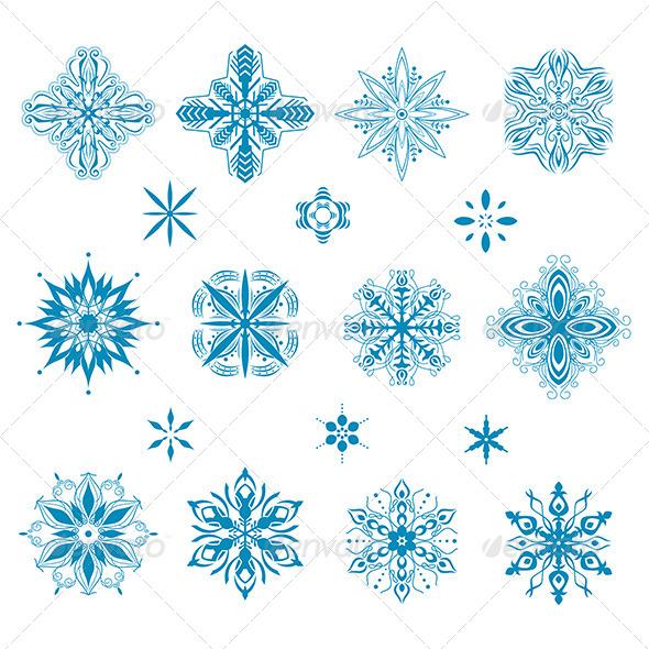 Snow Icons - Decorative Vectors