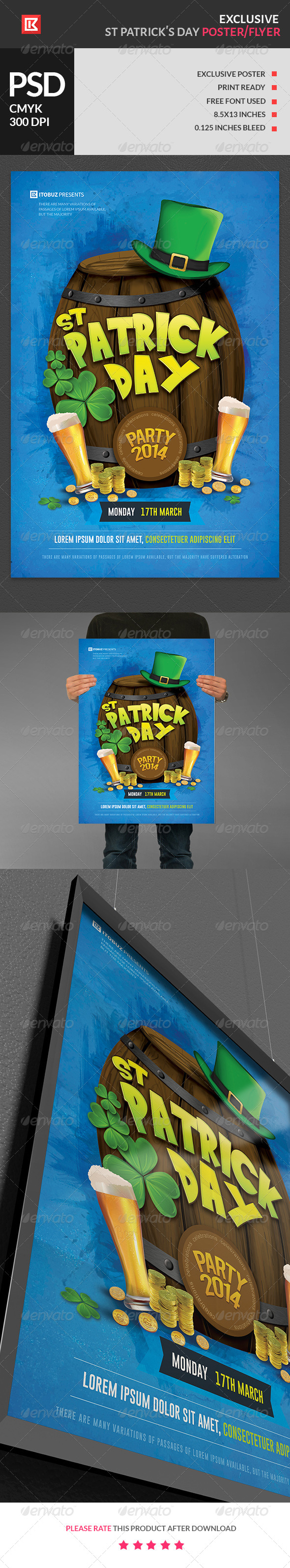 Exclusive St Patrick's Day Poster - Holidays Events