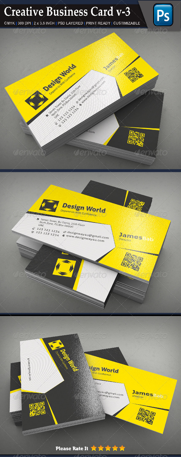Creative Business Card v-3 - Creative Business Cards