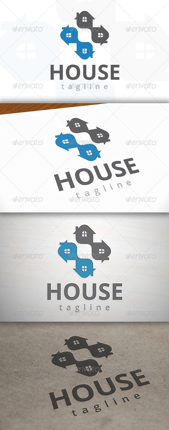 Cross House Logo - Buildings Logo Templates