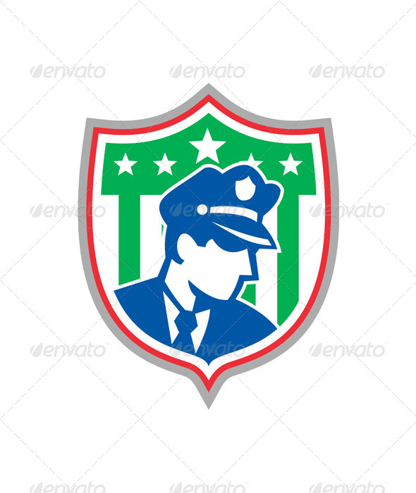 Security Guard Police Officer Shield - People Characters