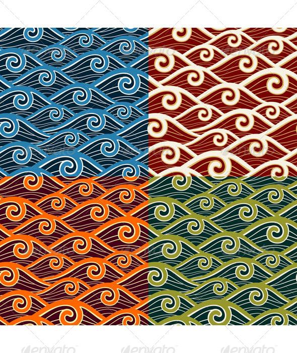 Swirly Wave Pattern - Patterns Decorative