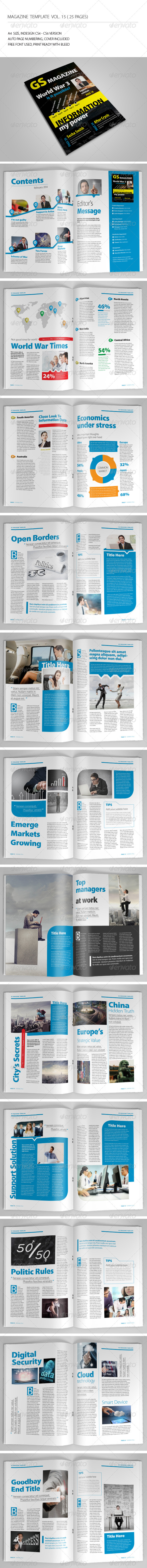 25 Pages Magazine Template Vol15 - Magazines Print Templates