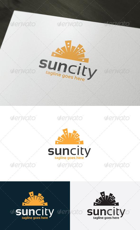 Sun City Logo - Buildings Logo Templates