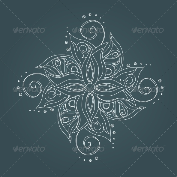 Abstract Floral Pattern - Flourishes / Swirls Decorative