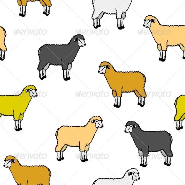 Sheep Pattern - Animals Characters