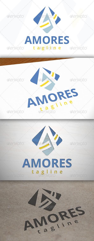 Amor A Letter Logo - Letters Logo Templates