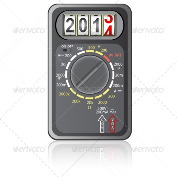 2014 New Year Multimeter - Web Elements Vectors