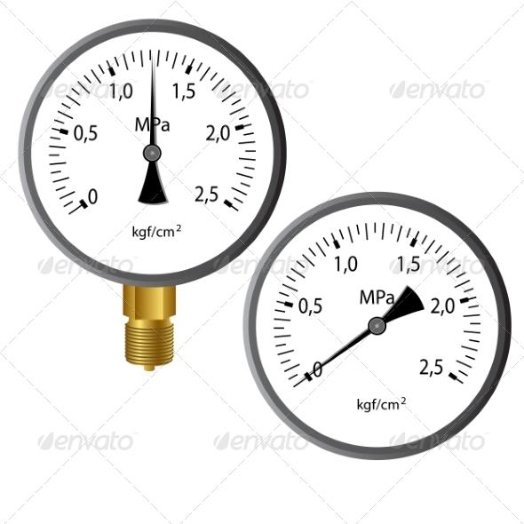 Gas Manometer - Web Elements Vectors