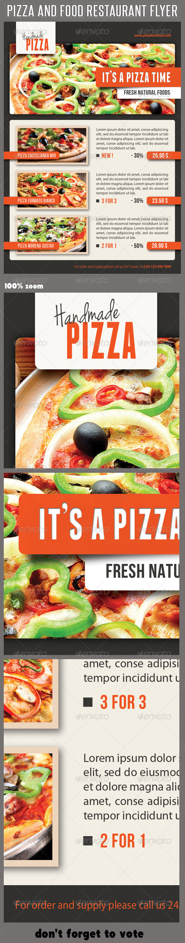 Food And Pizza Menu Flyer 08