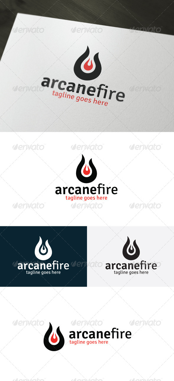 Arcane Fire Logo - Vector Abstract