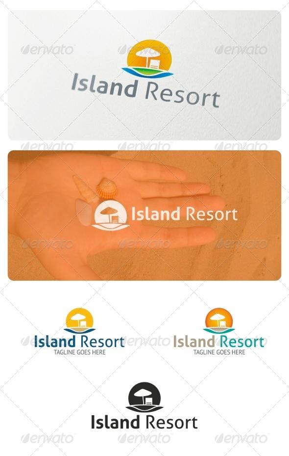 Island Resort Logo - Nature Logo Templates