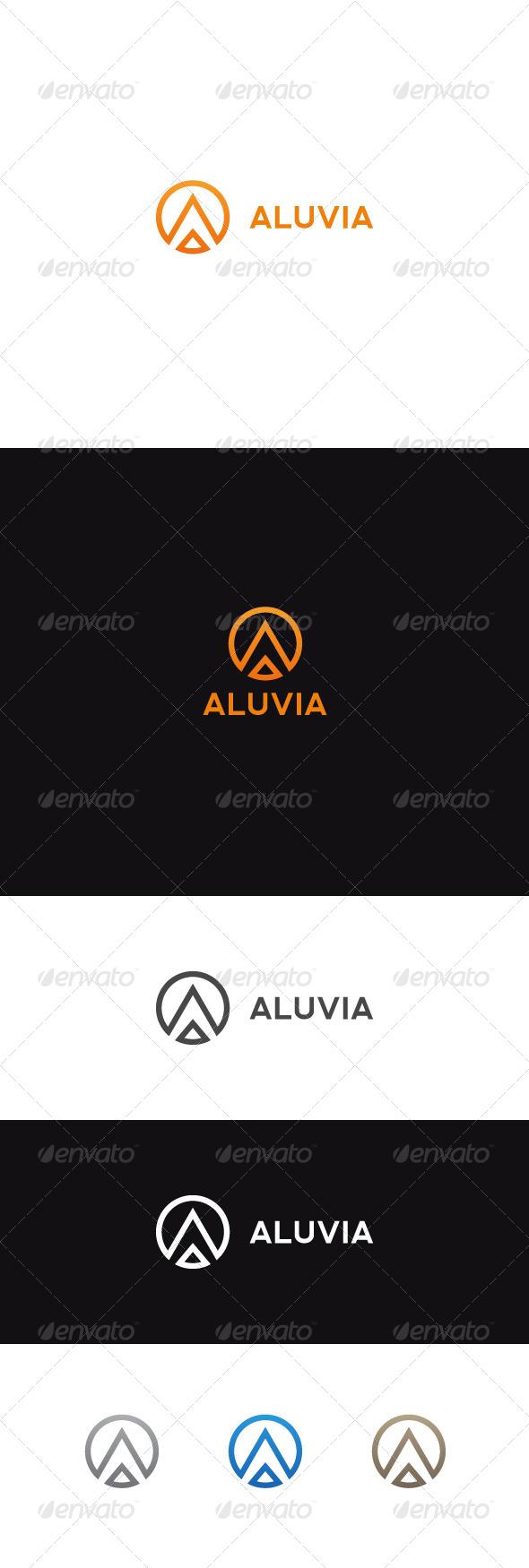 A Letter Logo | Aluvia - Letters Logo Templates