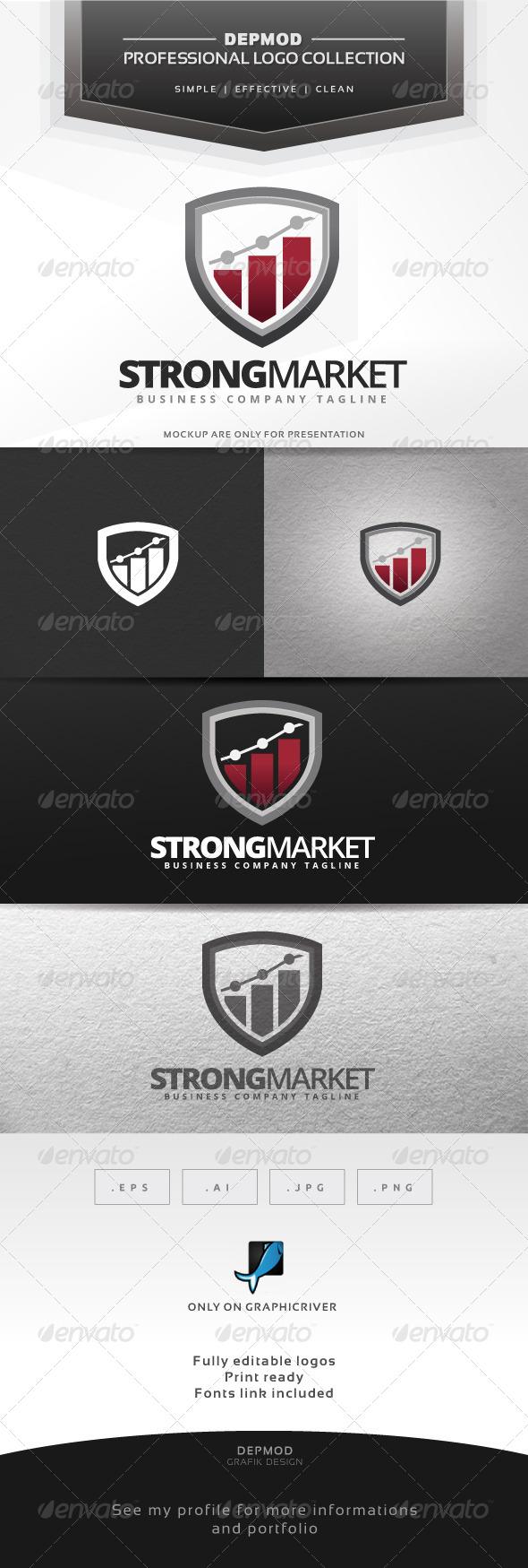 Strong Market Logo - Symbols Logo Templates
